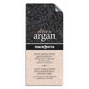 MACROVITA OLIVE & ARGAN ANTI-POLLUTION MOISTURIZING FINE CITY CREAM all skin types 2ml (sample)