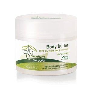 MACROVITA OLIVE-ELIA BODY BUTTER NO AROMA olive oil, white tea & beeswax 200ml