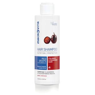 MACROVITA SHAMPOO FOR COLORED & DAMAGED HAIR red grape & calendula 200ml
