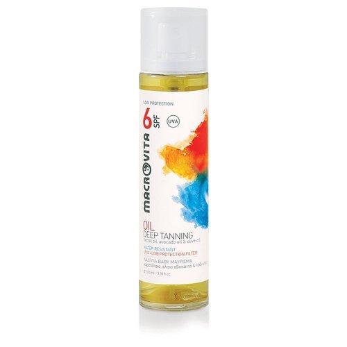 MACROVITA DEEP TANNING OIL SPF6 carrot oil, avocado oil & olive oil 100ml