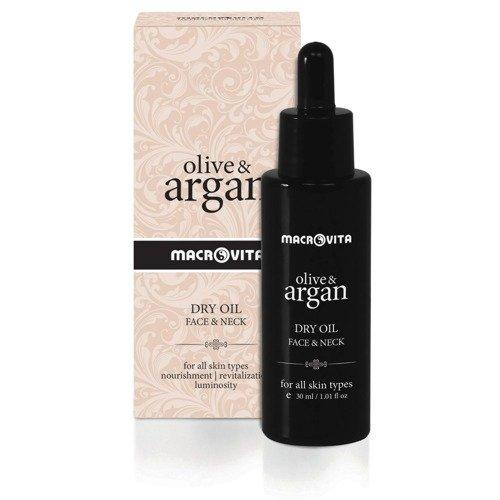 MACROVITA OLIVE & ARGAN trockenes Arganöl für Gesicht und Hals 30ml