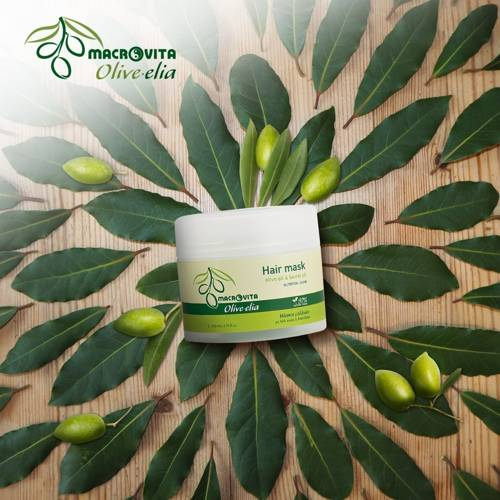 MACROVITA OLIVE-ELIA Ernährung Intensive Repair Mask für die Haare mit Bio-Komponenten 200ml