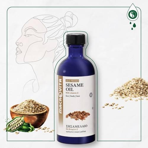 MACROVITA OLEJEK BIO-SEZAMOWY w naturalnych olejach - tłoczony na zimno z witaminą E 100ml